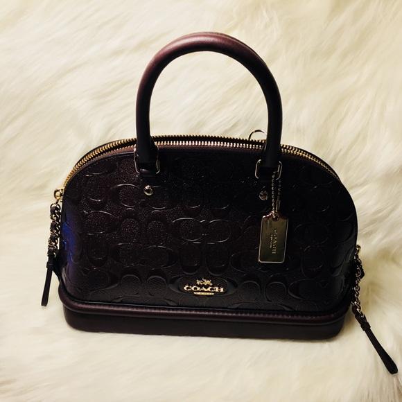 19bd7247 Mini Sierra Satchel In Signature Debossed Leather